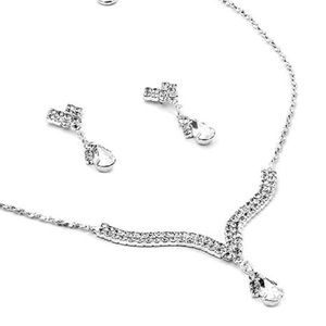 Silver & Crystal Jewelry Set